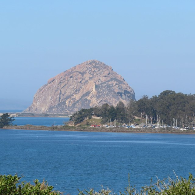 View across to Morro Bay and Morro Rock
