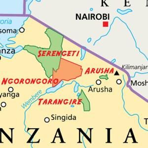 Tanzania map of parks