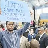 Clinton Crime Bill protestor