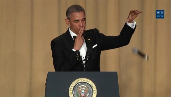 President Obama drops mic