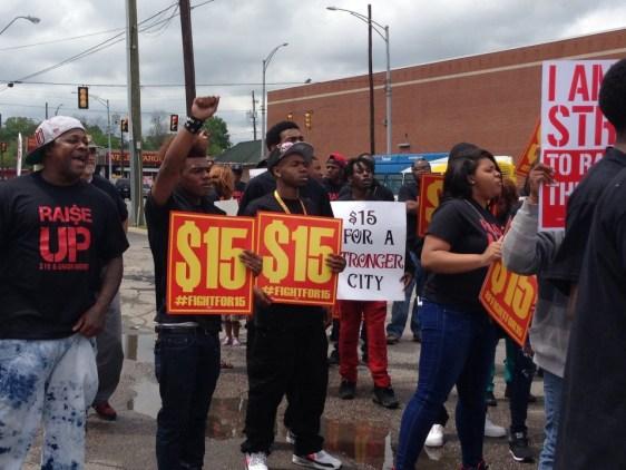 B'ham Fight for $15 protestors