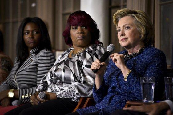 Democratic U.S. presidential candidate Secretary Hillary Clinton speaks during an event in Philadelphia