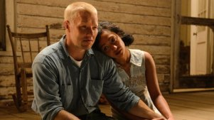 """This image released by Focus Features shows Ruth Negga, right, and Joel Edgerton in a scene from, """"Loving."""" (Focus Features via AP)"""
