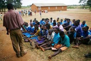 Outdoor classroom in Malawi