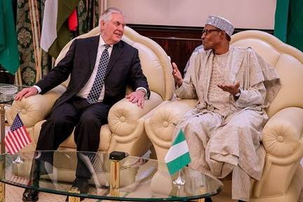 Tillerson with Chadian leader