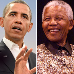 Obama and Mandela