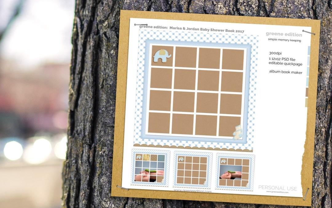 New Freebie Template: Pixel Scrapper Baby Book Maker