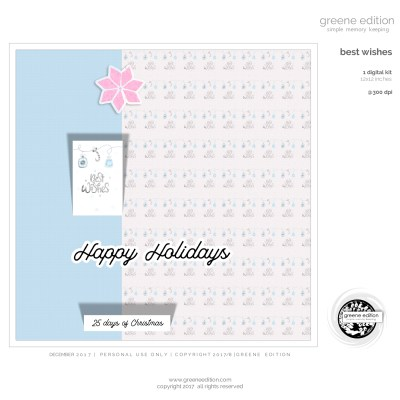 freebie, best wishes, mini kit, greene edition, simple memory keeping