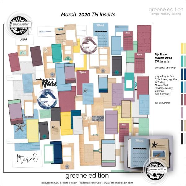 My Tribe TN Inserts, greene edition, My Tribe Mini Kit, greene edition, copyright 2020 greeneedition.com