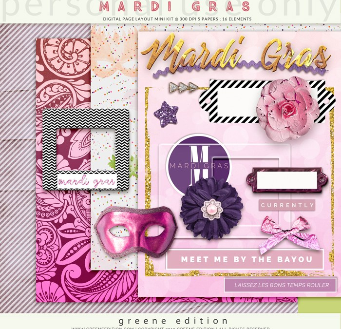 Mardi Gras Page Kit