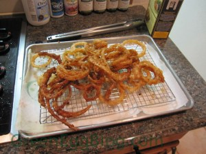 Shoestring Onion Rings