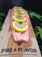 Red Oak Planked Salmon on the BGE