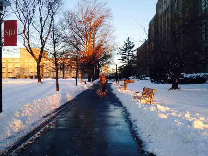 road salt melts snow