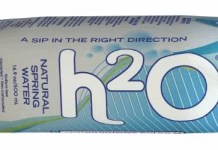 h2o paper bottled water