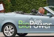 Prince Charles in Saab BioPower Car