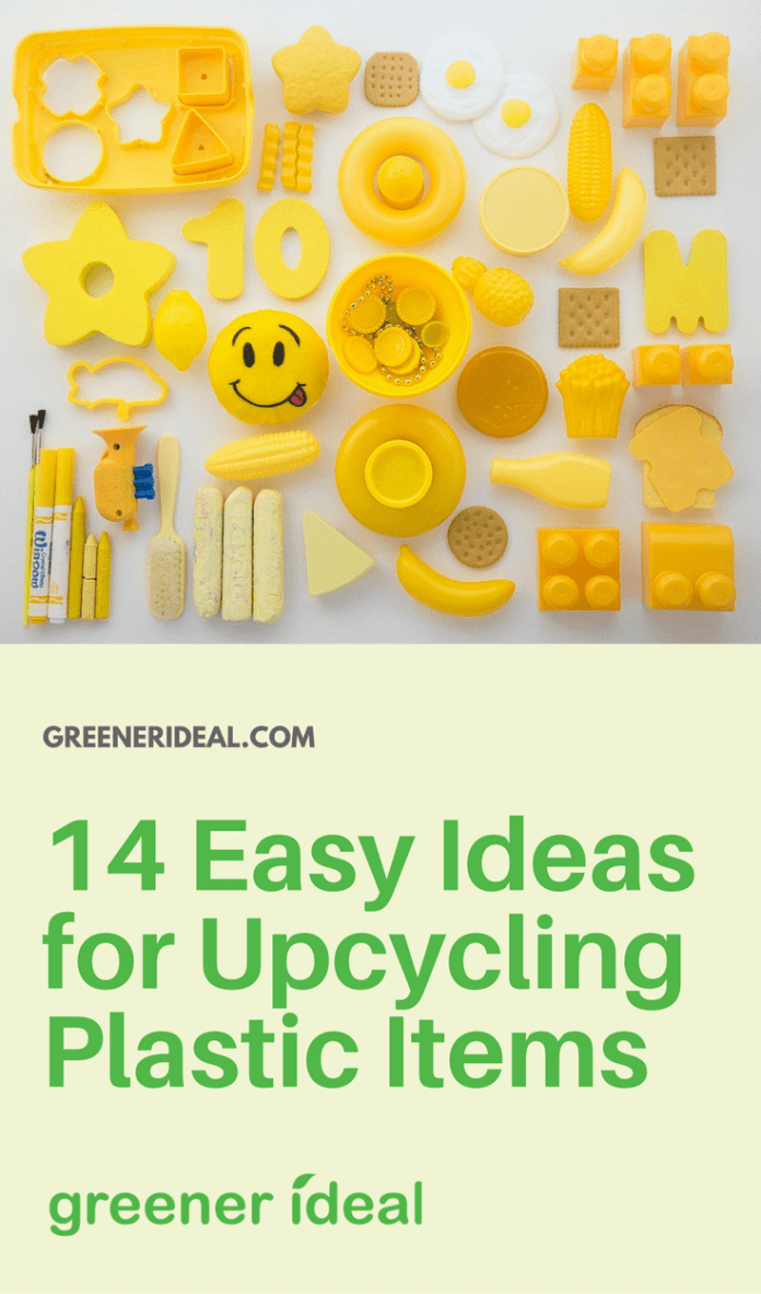 Here are just a few ways that I have upcycled, recycled, or repurposed just a few plastic items with just a few basic household tools.