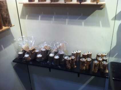 Carved Wood Salt Shakers