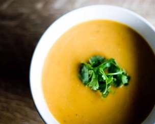 Vegan Yam and Carrot Coconut Milk Soup