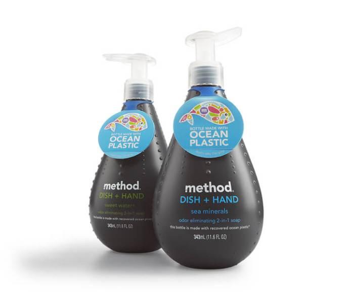 Method ocean plastic soap bottle