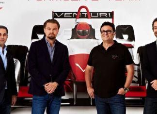 Leonardo DiCaprio and Electric Race Car