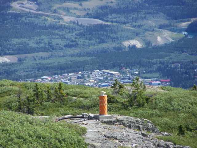 Whitehorse station of Canada's ground-based GPS tracking network.