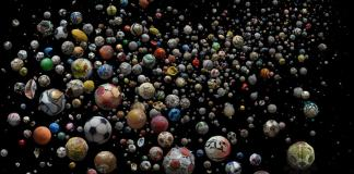Mandy Barker Penalty soccer ball oceans art