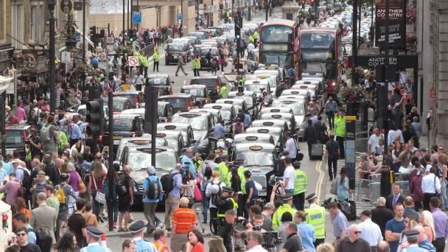 uber protest in London