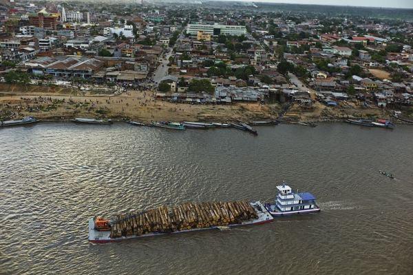 logs boat