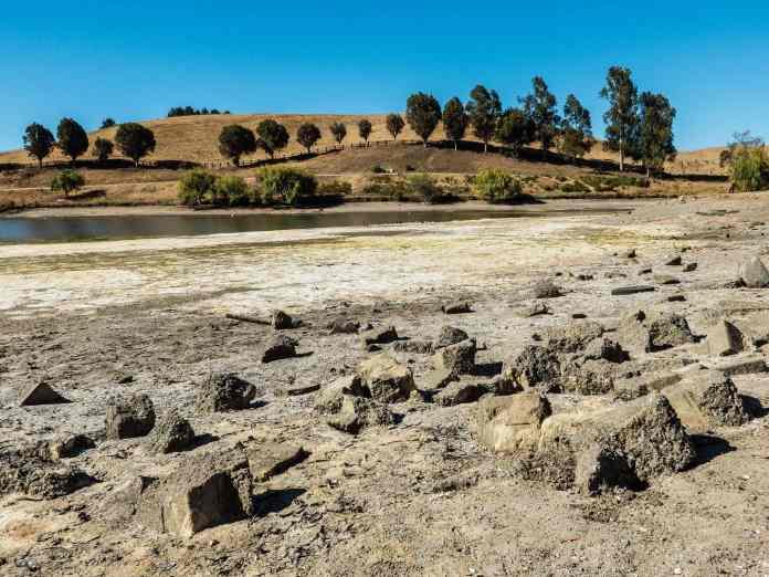 Sandy Lake California drought