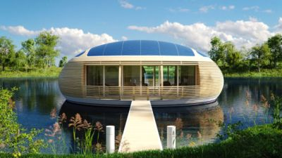 Float On In This Recycled Solar-Powered Home
