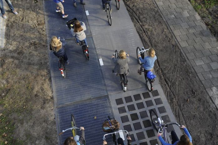 Netherlands solar bike path