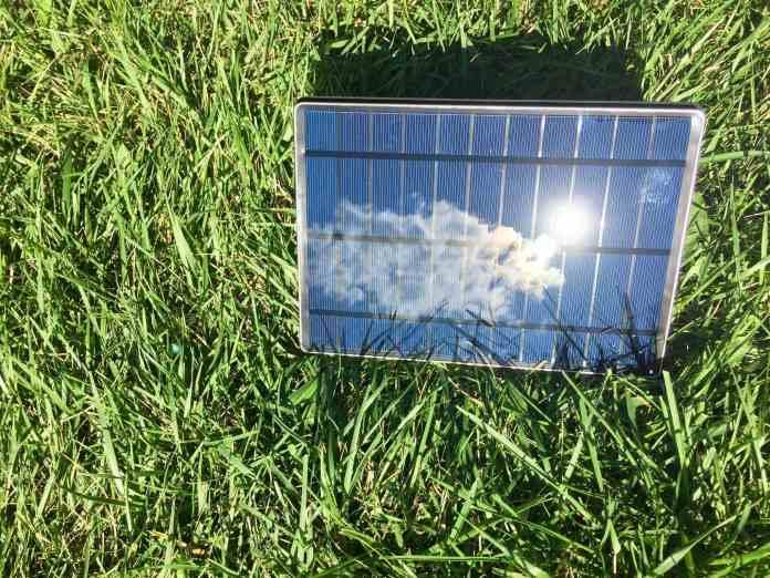 solartab charging in the sun