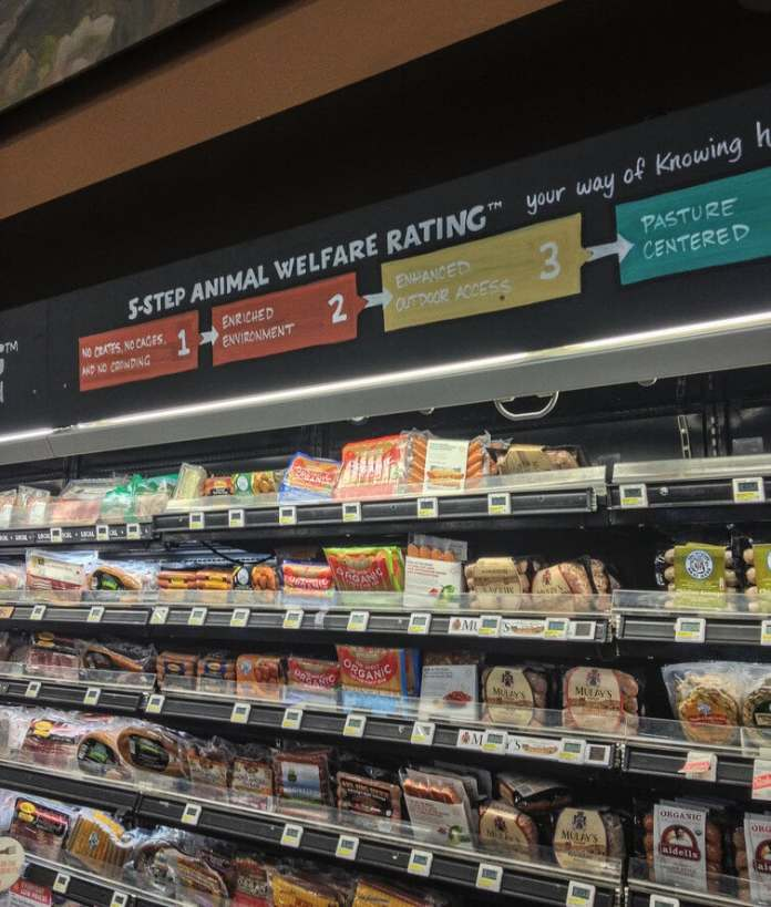 Whole foods meat aisle