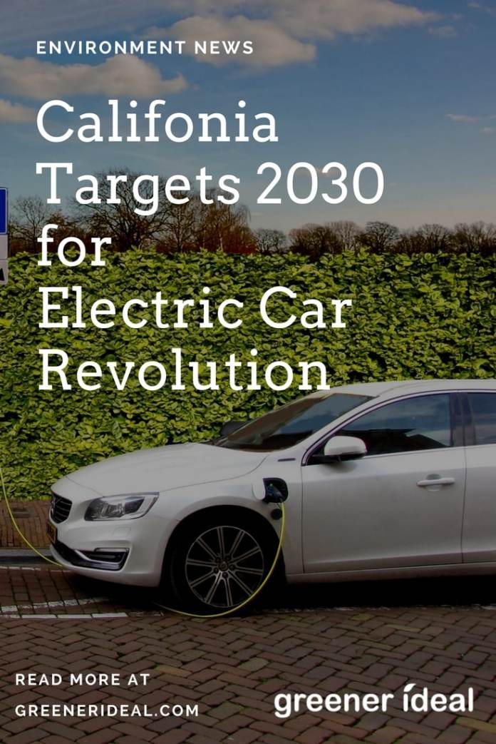 Up to 5 million electric cars could be on the roads of California by 2030 as part of a 'clean air' campaign engineered by governor Jerry Brown. The bigger picture is to reduce carbon emissions across the state from the transportation sector which currently accounts for half of California's greenhouse gas emissions.