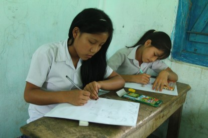 Village children of Namdapha National Park participating in a painting competition 1