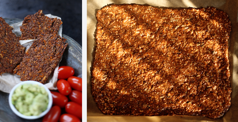Chia Flaxseed Crackers with Tomato