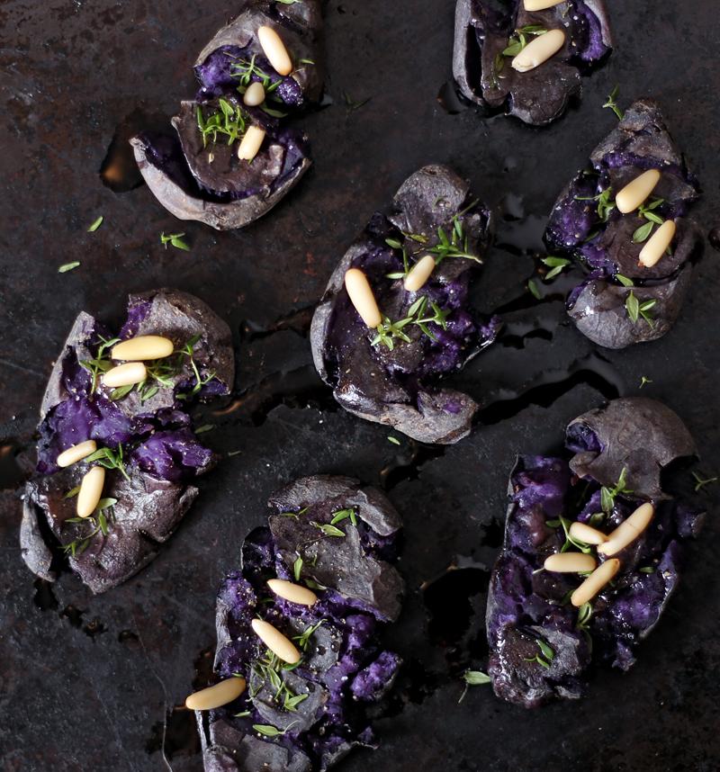 Smashed Purple Potatoes