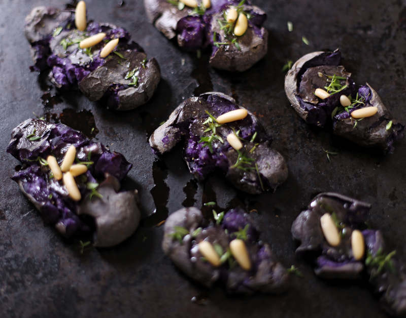 Smashed Purple Potatoes