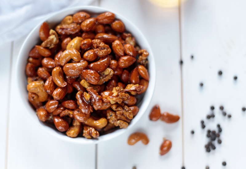 Whiskey and Maple Roasted Nuts