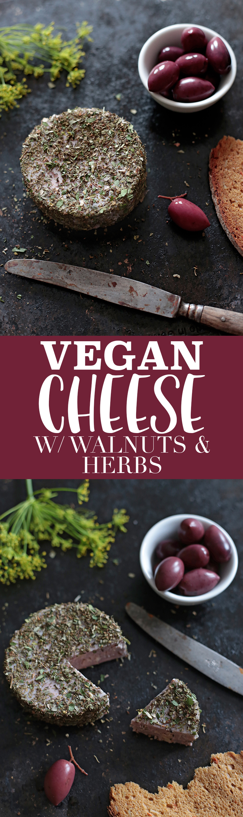 Walnut and Herb Vegan Cheese