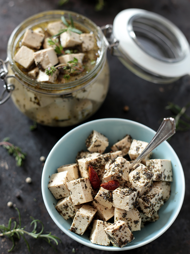 Vegan Tofu Feta Cheese