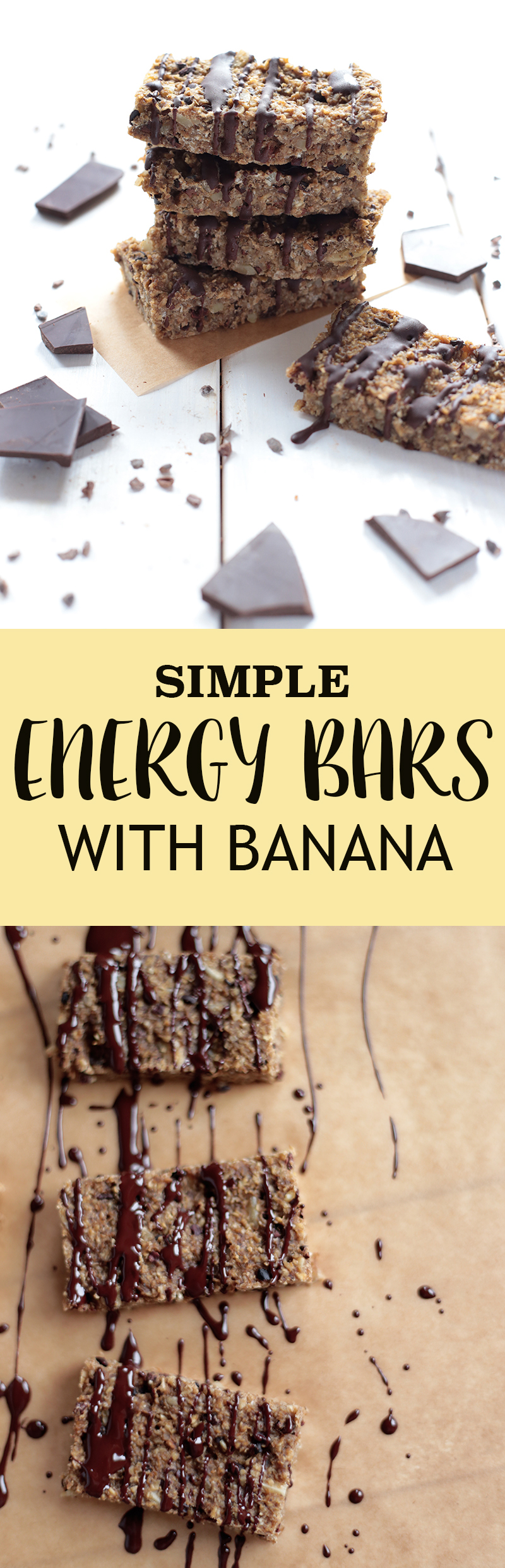 Simple Banana Energy Bars