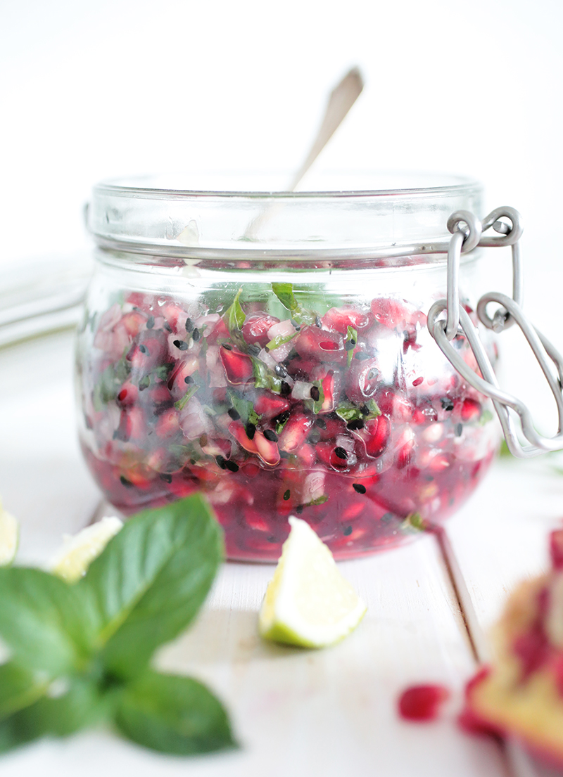 Pomegranate and Mint Relish