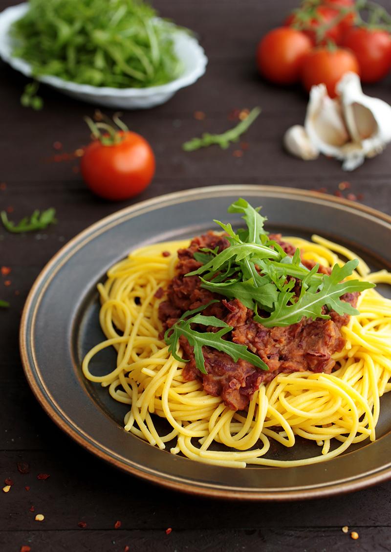 Pasta With Kidney Bean Sauce Green Evi
