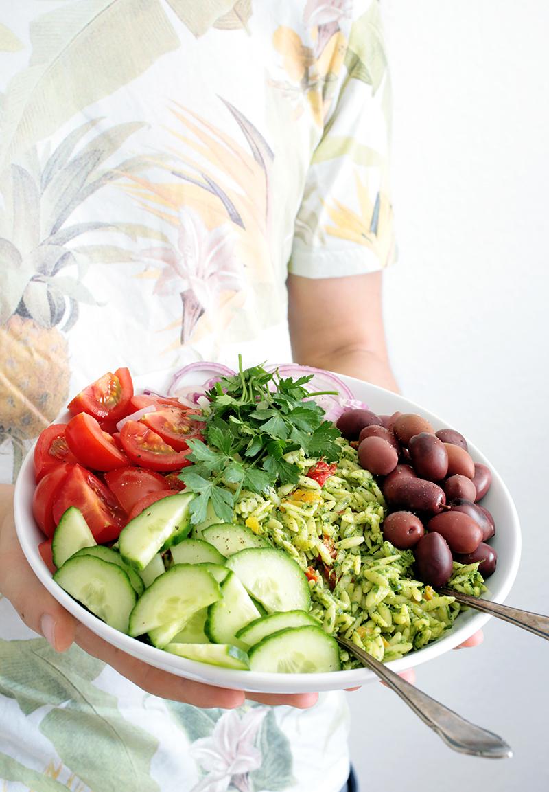 Vegan Mediterranean Orzo Salad