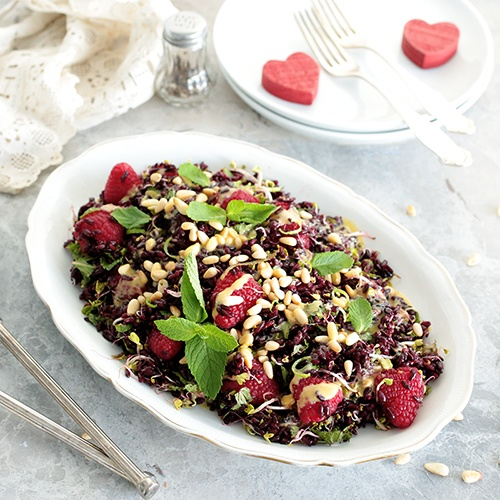 Black Rice and Raspberry Salad • Green Evi
