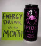 Other flavors are available but I prefer Widow Maker for its flavor, its tagline atop the can, and its colors scheme.