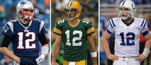 Three quarterbacks in the NFL playoffs are #12!!!