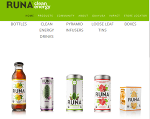 Runa Clean Energy and Other Guayusa Produts