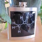 Ethanol Molecule Hip Flask [Stellar Custom Designs Etsy Shop]